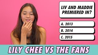 Lily Chee vs. The Fans - Trivia