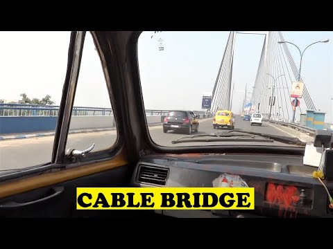 Taxi Fanning India's Longest Cable Bridge - Vidyasagar Setu