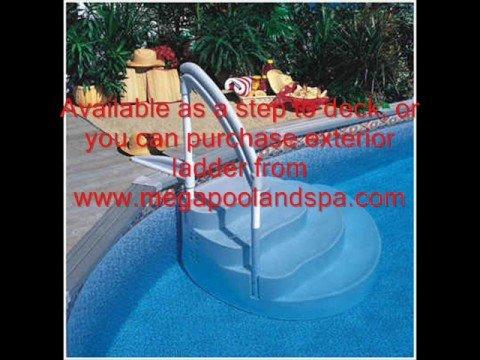 Wedding Cake Above Ground Swimming Pool Step Ladder Youtube