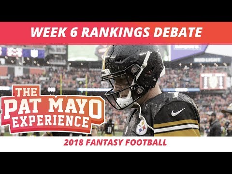 2018 Fantasy Football — Week 6 Rankings, Starts, Sits, Sleepers and Busts