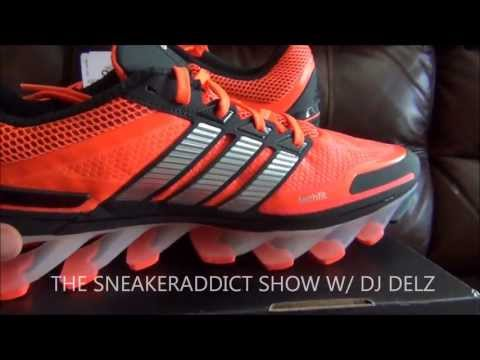 adidas SpringBlade Shoe Review Plus On Feet With @DjDelz Dj Delz