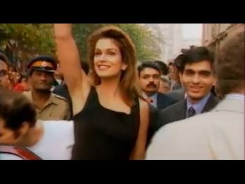 Cindy Crawford in India 1996....  Music By LOLLITA