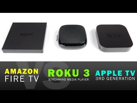 Amazon Fire TV vs Apple TV vs Roku 3 Full Comparison