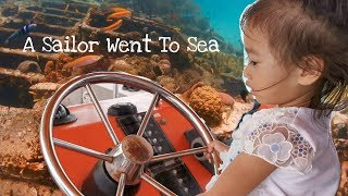 A Sailor Went To Sea Sea Sea | Nursery Rhyme | Real Boat Sailing Trip