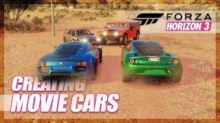 Forza Horizon 3 - Creating Our Own Movie Cars! (Random Fun)