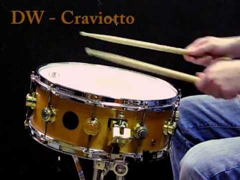 """DW Craviotto Solid shell Maple snare 14x5.5"""""""