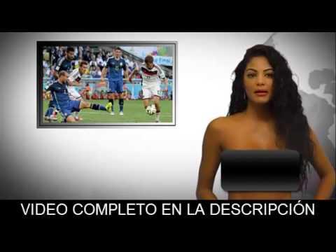 Alemania 1-0 Argentina - Desnudando la noticia - Noticias al desnudo - Venezolana se desnuda en vivo
