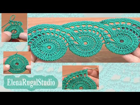 Crochet Lace Tape Pattern Tutorial 9 Part 1 of 2 Lace ...