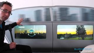 Mercedes Benz F 015 Display technology walkthrough