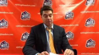 NJIT MBB vs. UMass Lowell Post Game Interview w/ Jim Engles