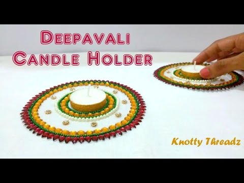How to make Deepavali Candle Holder at Home | Tutorial !!