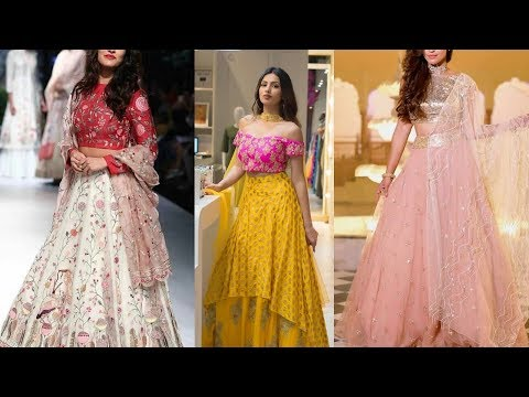 Top Stylish & Beautiful Lehenga Design Collection For Girls 2018_19