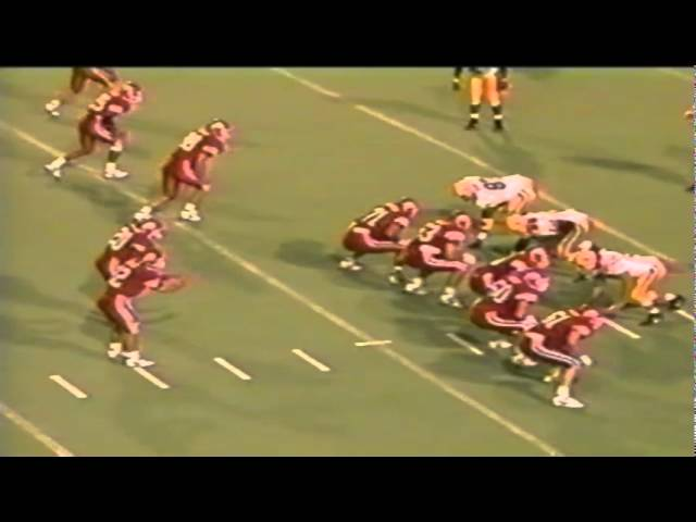 Oregon LB Terrell Edwards sacks Utah QB Frank Dolce 9-21-1991