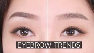 EYEBROW TUTORIAL | WESTERN vs KOREAN 미국/한국 눈썹 비교
