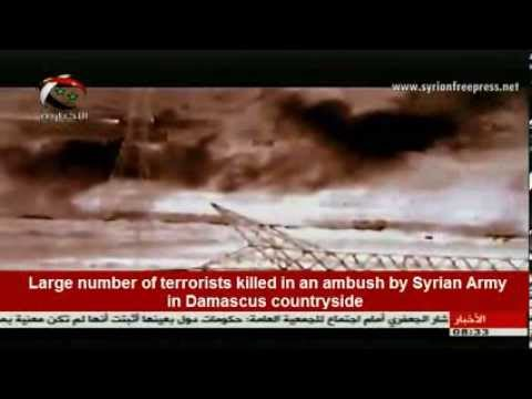 Syria, ِLive Ambush by Syrian Army, kills large number of terrorists in Damascus countryside