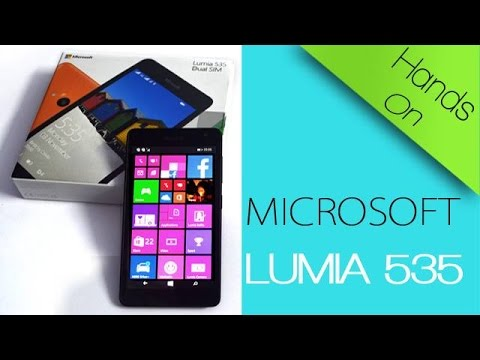 Microsoft Lumia 535 Windows Phone 8.1 - First Boot, Impressions & Hands On Review!