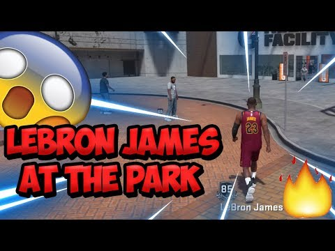 LEBRON JAMES AT THE PARK! 3x NBA CHAMPION LEBRON JAMES HOOPING IN NBA 2K18! 99 Overall Demigod 2K18!