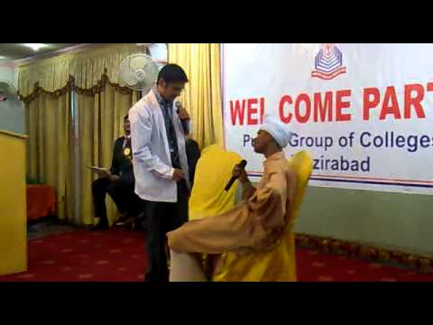Doctor Patient Skit On Welcome Party In Punjab College Wazirabad.