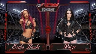 Wwe 2k15 - Sasha Banks (Team BAD) Vs.  Paige (TEAM PCB)