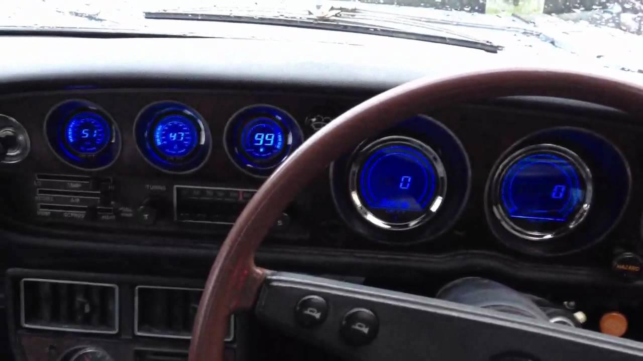 TA22 Celica Drift Iridium gauges fitted - YouTube