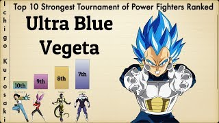 Top 10 Strongest Tournament of Power Fighters Ranked (Updated)