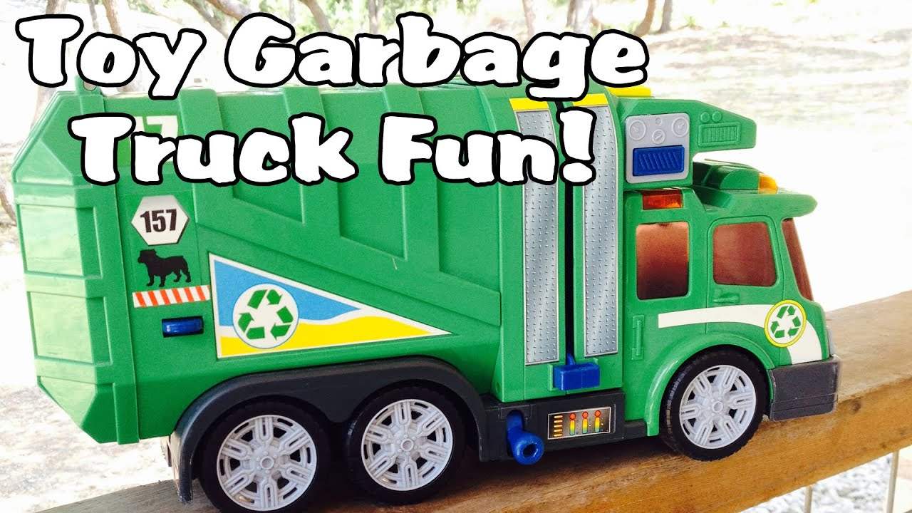 Trash Can Toys R Us : Garbagetruck video toys r us green side loader youtube