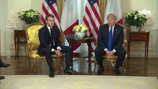 President Trump Participates in an Expanded Bilateral Meeting with the President of France