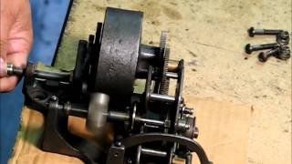 Thomas Edison's Electric Light Bulb Band Video - EDISON STANDARD CYLINDER PHONOGRAPH MOTOR