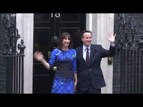 UK elections: David Cameron returns, promises EU vote