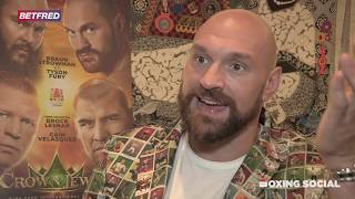 TYSON FURY ON WWE TRAINING, BRAUN STROWMAN FEUD, DEONTAY WILDER REMATCH, RECOVERY FROM CUT & BOOK