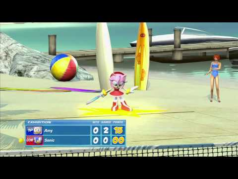 SEGA Superstars Tennis: Amy vs Sonic (Outrun Court) [1080 HD]
