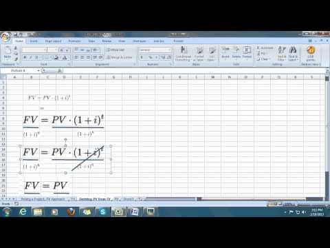 PMBOK Formulas:  FV (future value) and PV (present value)