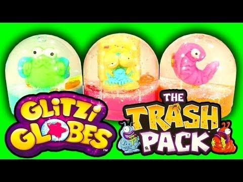 Glitzi Globes Trash Pack Mash Up How To Make Snow Globe Trashies Toy Hack & Fan Prize