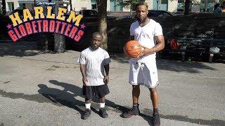 1v1 Basketball Against 4'5 Globetrotter Ankle Breaker Hooper Mani Love