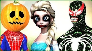 Scary Haunted Zombie Halloween Prank   Spiderman Frozen Elsa Black Spiderman Joker Movies