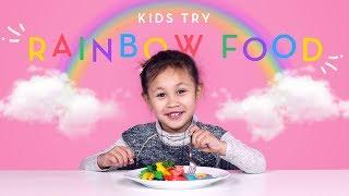 Kids Try Rainbow Food! | Kids Try | HiHo Kids