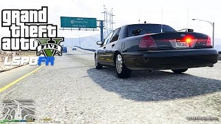 GTA 5 LSPDFR 0.3 - EPiSODE 10 - LET'S BE COPS - CITY PATROL (GTA 5 PC POLICE MODS) UNMARKED CVPI