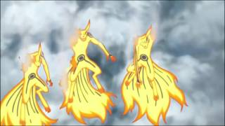 Sasuke's Indra's Arrow Vs Naruto's Rasenshuriken Three Headed- Kurama (Fight Scene)