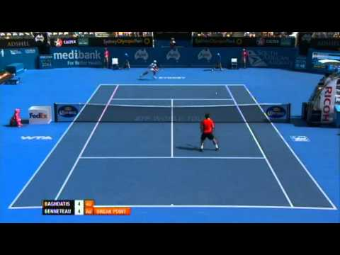 Marcos Baghdatis v Julien Benneteau Highlights Men's Singles Semi Final: Sydney International 2012