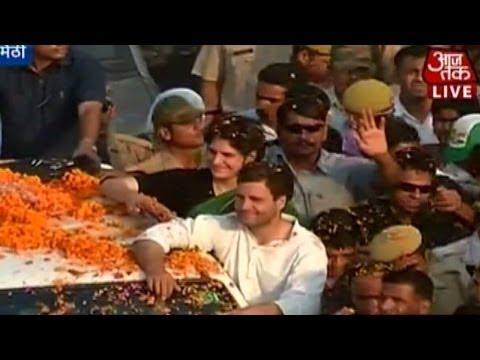 Rahul Gandhi's road show in Amethi (Full coverage)