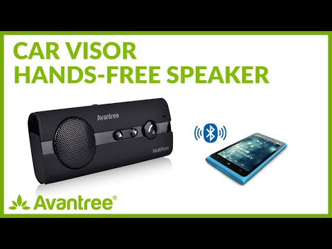 Avantree How To - Use Visor Bluetooth Handsfree Car Kit - Drive & Talk & Safe (MultiPoint BTCK-10).