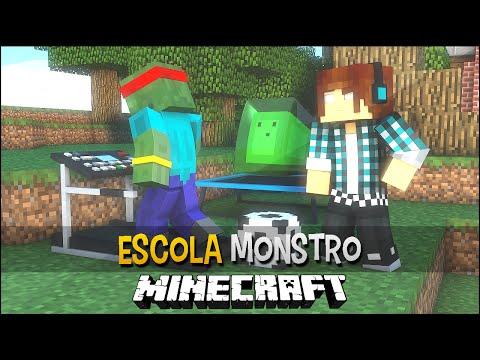 Minecraft Escola Monstro #18 - Educação Física Monstro !!  Monster School video