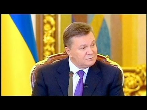 Viktor Yanukovych sells Russia deal and warns foreigners off Ukraine