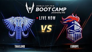 ROV : World Cup Bootcamp 2018 (Group Stage) Day 6 TH Vs EU