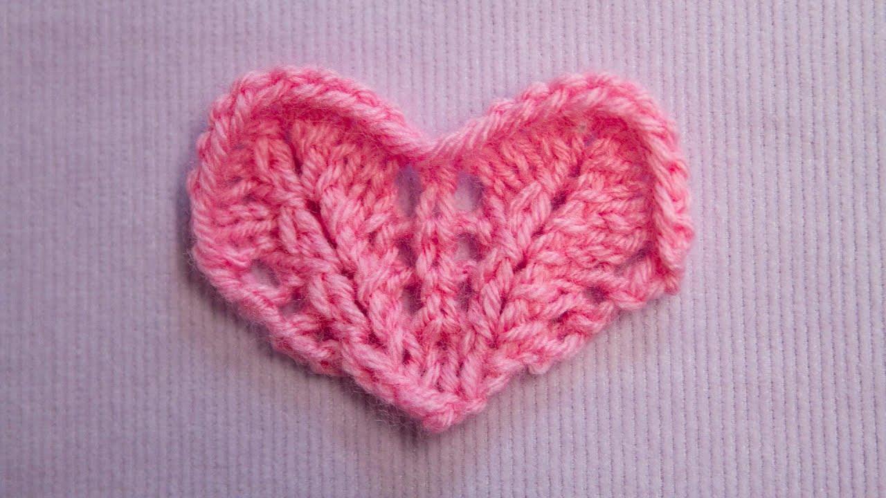 Ein kleines Herz stricken - Knitting a small Heart ...