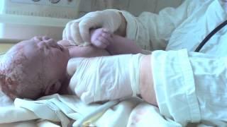 Первые минуты жизни нашей доченьки