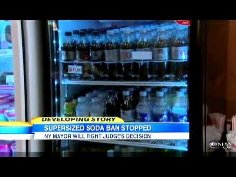 NYC Super-Sized SODA BAN Halted by Judge | NY Mayor Fumes As Judge BLOCKS Ban on Mega Sodas