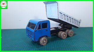How To Make A RC Dump Truck From Cardboard | Do It Yourself
