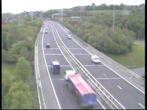 **ORIGINAL** Truck accident caught on police camera Motorway M621 (M62 Crash Leeds West Yorks UK)
