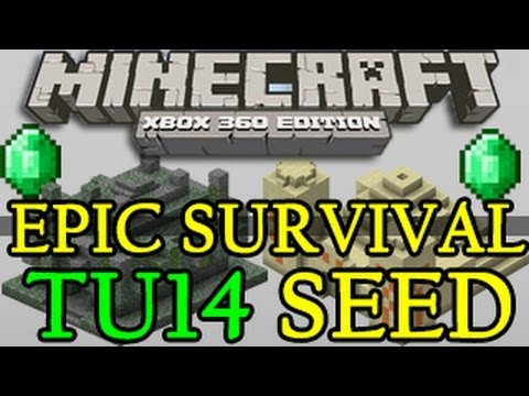 Minecraft ( TU15 ) BEST Survival Seed Xbox 360 / PS3 - Desert & Jungle Temples with 5 Villages